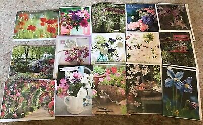 Joblot Wholesale Birthday Greetings Cards Flowers Floral Garden X 30