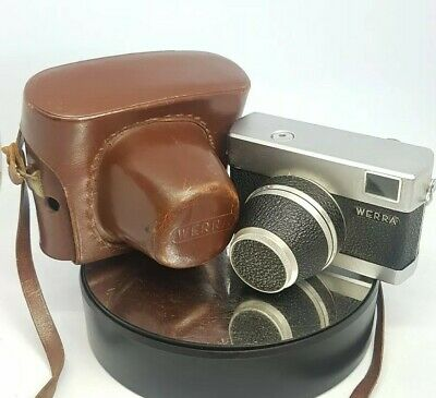 WERRA 1 Carl Zeiss Jena Tessar 2,8/50 vintage camera + Case  TESTED #781