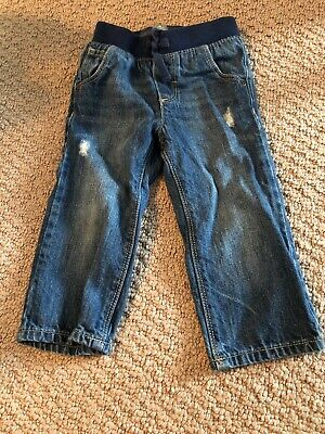 Baby Gap Toddler Boys Pull On Denim Jeans Size 18-24 Months EUC