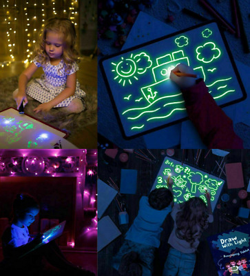 Draw With Light Fun And Developing Toy A4 Drawing Board Educational Magic Draw