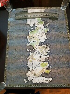 "Game Of Thrones Poster King Robb Stark Map 24"" X 30"" GOT"