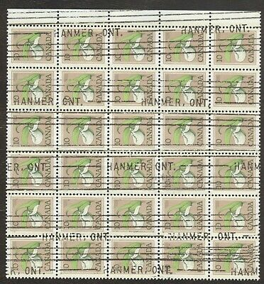 Stamps Canada # 711, 10¢, 1977, 1 block of 30 used stamps.