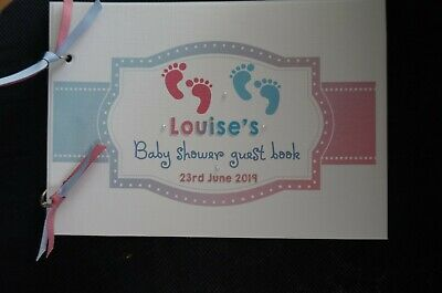 Personalised Baby Shower Guest Book Baby Feet Theme  pages Twins