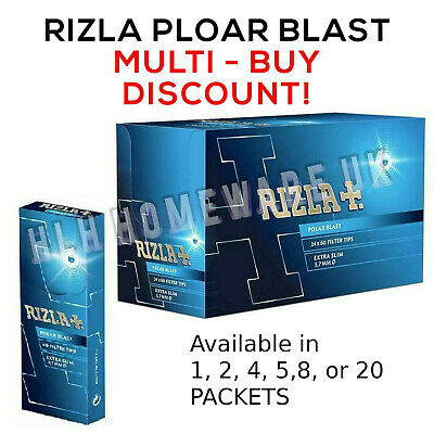 Rizla Polar Blast Filter Tips Extra Slim Pop Menthol Smoking Rolling CHEAP
