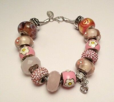 336995b09 HELLO KITTY SANRIO CRYSTAL BEAD CHARM BRACELET STERLING SILVER 925 (38.9g)