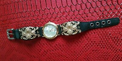 01c0cc87c24b ALFEX Ladies Swiss Made Mother of Pearl Watch Rare Design. Leather Strap
