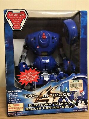 Lost In Space 1998 Electronic Talking Remote Control Robot - Sealed In Box!