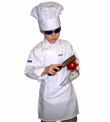 Set Children 3-8 SMALL CHEF APRON + HAT REAL FABRIC COLOR HIGH QUALITY CHEFSKIN