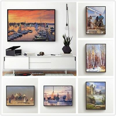 Landscape Printed Canvas Wall Art Painting Poster Home Decor Unframed