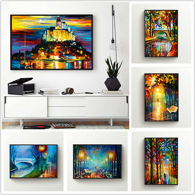 Colorful Landscape Printed Canvas Wall Art Painting Poster Home Decor Unframed