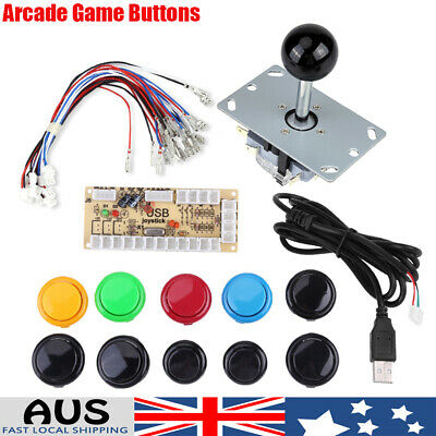 DIY Zero Delay Arcade Kits Parts USB Encoder+Joystick+10 MAME PC Buttons ark AU