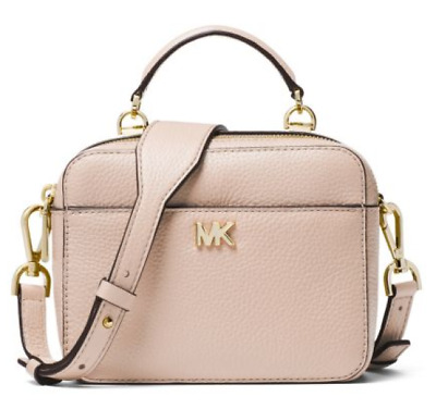 4c9a7fcd5cae4b Michael Kors NWT $178 Mini Guitar Strap Crossbody Soft Pink Pebble Leather  Zip