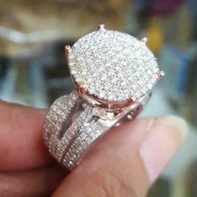 925 Silver Gorgeous Round White Sapphire Engagement Ring Wedding Jewelry SZ6-10