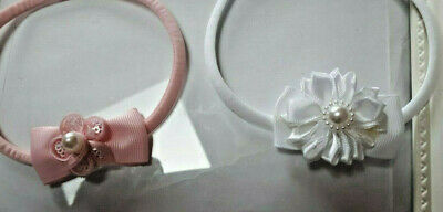 Preemie  Headband In  Soft Thin Elastic  In Pink Or White