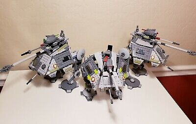 LEGO Star Wars 3 AT-AP's 75043 75234 7671 ALL 100% COMPLETE 2008 2013 2019