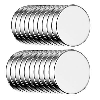 Self-Adhesive Neodymium Disc magnets 20x - round stick-on magnets - 10x1.5mm