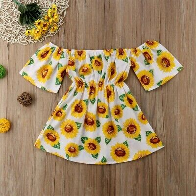 Cute Toddler Kid Baby Girl Clothes Princess Party Prom Floral Summer Dress AU