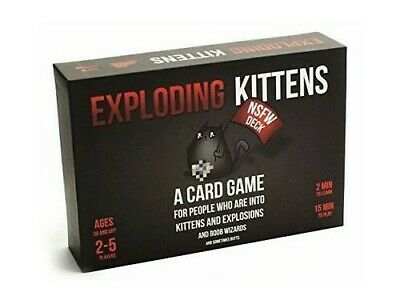 Exploding Kittens Card Game NSFW Edition Adult - Used once! Boxed & complete!