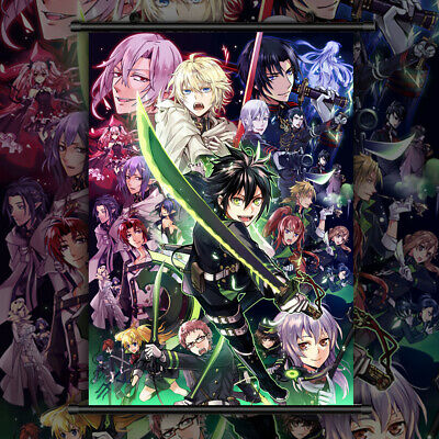 Seraph of the End Anime HD Print Wall Poster Scroll Home Decor