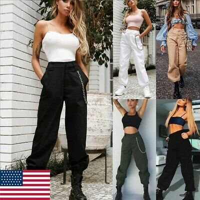 Women's Military Combat Trouser Ladies Cargo Pants Girls Army Trousers US Stock