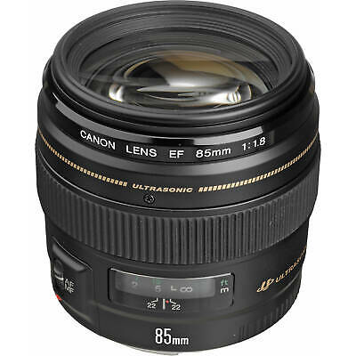 Brand New Canon EF 85mm F1.8 USM Black Lens ES*1