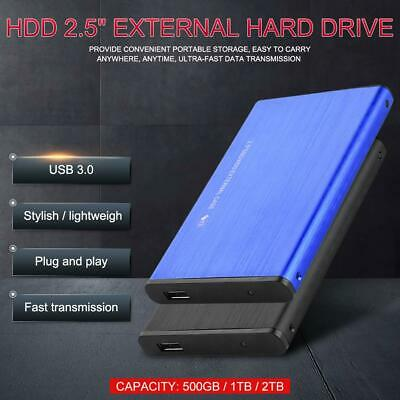 "2.5 ""External Hard Drive 500GB 1TB 2TB USB 3.0 Portable Mobile Hard Disk WIN MAC"