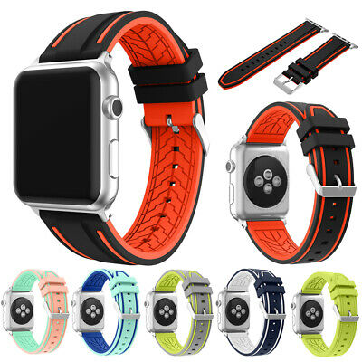 Sports Strap For Apple Watch Band iWatch 4/3/2/1 42/44mm Gel Wrist Bracelet Band