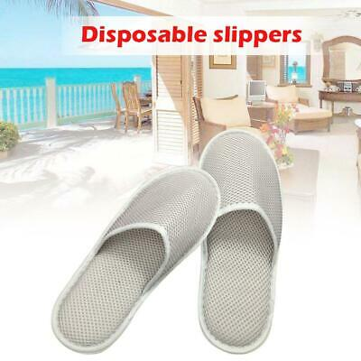Towelling Shoes White Disposable Open/Closed Spa Hotel Toe Slippers Pairs XQAP