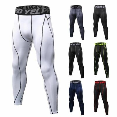Men Sports Compression Pants Workout Sweatpants Running Skin Tights Trousers New