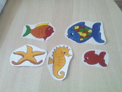 4 FISCHE-WINDOW COLOR-BADEZIMMER Deko-Kinderzimmer-Fensterbild - EUR ...