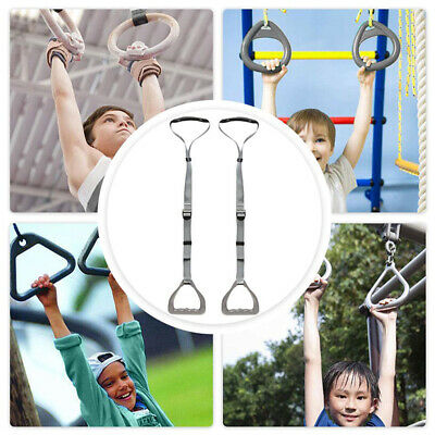 1 Set ABS Gymnastic Rings With Adjustable Straps Cross-Training Strength Fitness