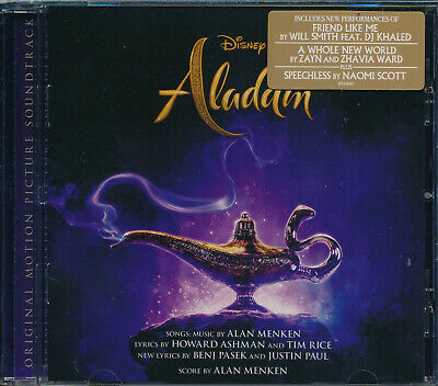 Aladdin 2019 motion picture soundtrack CD NEW Alan Menken Howard Ashman Tim Rice