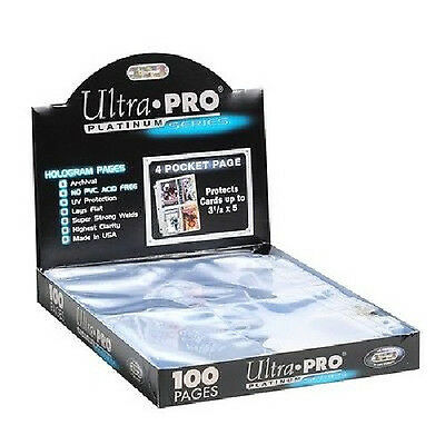 1000 ULTRA PRO PLATINUM 4-POCKET Pages 3 x 5 Sheets Protectors New 1 Case