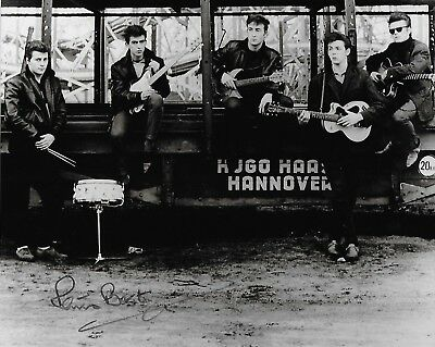 Signed Genuine Hand Signed Pete Best, The Beatles Drummer Signed Photo  + Coa