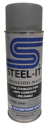 Steel-it Stainless Steel pigmented Paint - Polyurethane - 14oz Spray Can