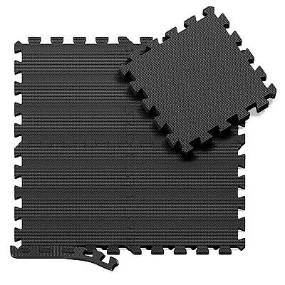Black 31 X 31 cm Eva Foam Mat Soft Floor Tiles Interlocking Play Kids Baby Mats