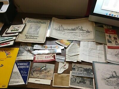 Great Job Lot Of Collectables. Some Very Nice Ephemera Including The Navy. Look!