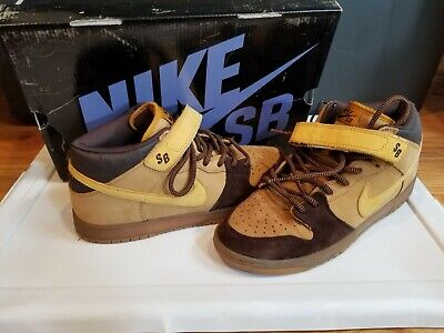 ab4d9c2c Nike Dunk Mid Pro SB Wheat 314383-771 OG RARE 2006 Black Box Mids DS
