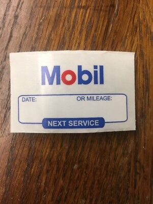 AC Delco Mobil 1 Oil change reminder windshield cling stickers 52 For $8.99