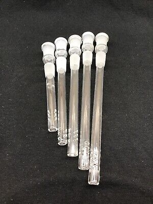 """Glass Downstem Water 14mm 14mm FEMALE  Cuts 3"""" to 6"""" ~BUY 2 GET 1 FREE ~ FF"""