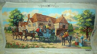 COLLECTION D'ART STAGE COACH PRINTED TAPESTRY CANVAS NEEDLEPOINT (100X48cm)