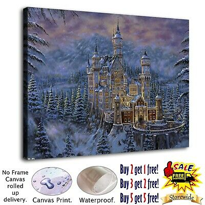 """12""""x16"""" Fantasy Castle HD Canvas prints Painting Home decor Room Wall art Poster"""