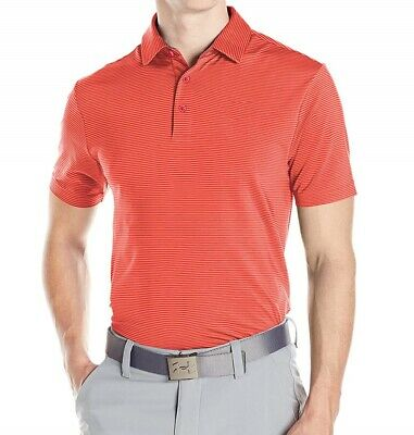 Under Armour UA Playoff Stripe Polo Pierce Red - New 2019 - Choose Size