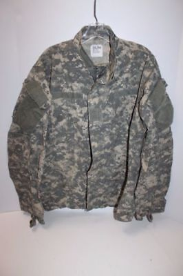 US Army Military Digital ACU BDU Camo Shirt Battle Top - Size Small Short