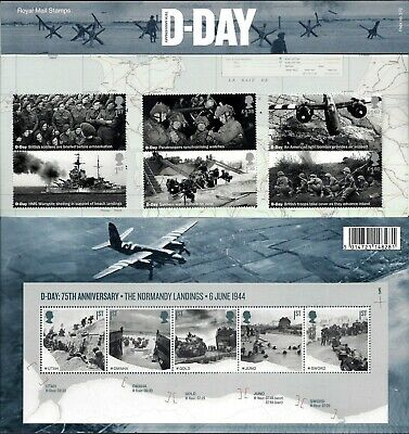 Gb 2019 Mint D-Day 75Th Presentation Pack 572 Stamps Sheet Retail Booklet Pm67