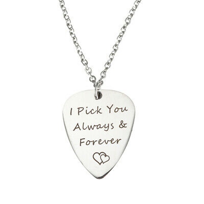 1pc Guitar Pick Necklace Durable Charm Metal Portable Plectrums for Daily Wear