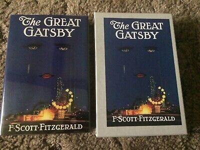 THE GREAT GATSBY F. Scott Fitzgerald FIRST EDITION LIBRARY HC w/SLIPCASE fine OP