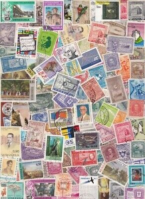 Venezuela Collection From Old Stamp Hoard 109 Large Off Paper M/U **SALE**