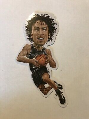 LARGE VINYL STICKER NBA SAN ANTONIO SPURS MANU GINOBILI, Skate Board, Laptop,