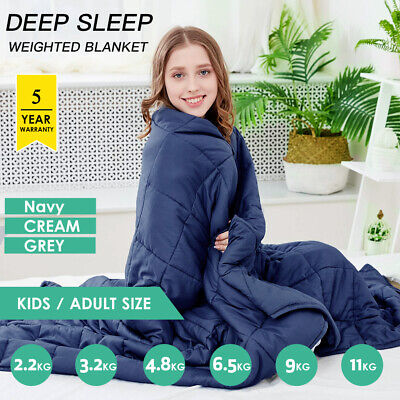 Weighted Blanket Deep Relax Sleeping Gravity for Adult Men Women Kid 9/7/5/11KG